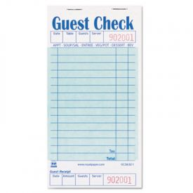 Royal Guest Check Book, 3 1/2 x 6 7/10