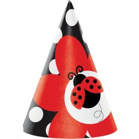 Ladybug Fancy Paper Party Hats, Child Size