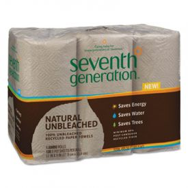 Seventh Generation® Natural Unbleached 100% Recycled Paper Towels, 11 x 9