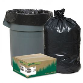 Earthsense; Linear LD Recycled Can Liners, 38 x 58, 55-60 Gal, 1.65 mil