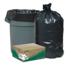 Earthsense; Linear LD Recycled Can Liners, 38 x 58, 55-60 Gal, 2 mil
