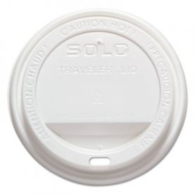 SOLO® Cup Traveler Drink-Thru Lid, 12-16 oz Cups, White