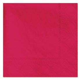 Hoffmaster® Embossed Beverage Napkins, 2-Ply, 9 1/2 x 9 1/2, Red
