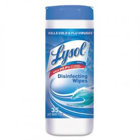 LYSOL® Brand Disinfecting Wipes, 7 x 8, Ocean Fresh, White