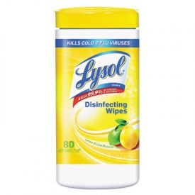 LYSOL® Brand Disinfecting Wipes, Lemon & Lime Blossom, White, 7 x 8