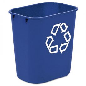 Rubbermaid® Commercial Deskside Recycling Container, 13 5/8 qt, Blue