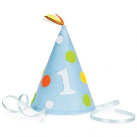 Sweet At One Party Hat Felt Blue Child Size