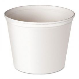 SOLO® Cup Double Wrapped Paper Buckets, Unwaxed, White, 165 oz