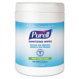 PURELL® Hand Sanitizing Wipes, 6 x 6 3/4