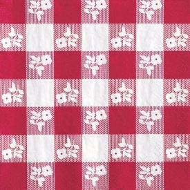 Red Gingham Lunch Napkins, 2-Ply, High-Count