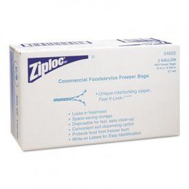 Ziploc® Commercial Resealable Freezer Bags, Zipper, 2 gal, Clear