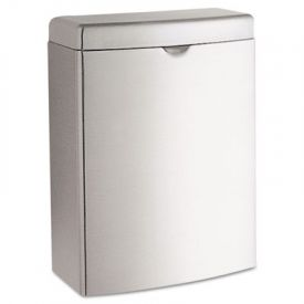 Bobrick Contura™ Receptacle, Rectangular, Stainless Steel, 1 gal