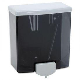 Bobrick Surface-Mounted Liquid Soap Dispenser, 40-oz, Black/Gray