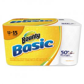 Bounty® Basic Paper Towels, 10.19 x 10.98, 1-Ply