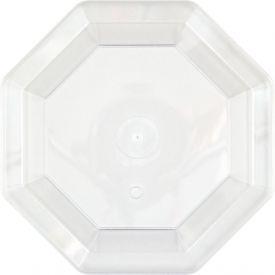 Clear Appetizer or Dessert Rigid Plastic Plates Octagonal 7