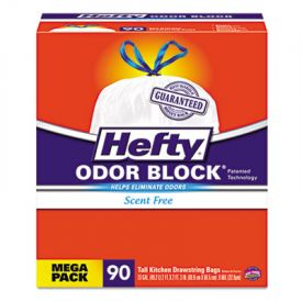 Hefty®  Odor Block Tall-Kitchen Drawstring Bags, 13gal, White