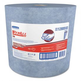 WypAll* X90 Cloths, Jumbo Roll, 11 1/10 x 13 2/5, Denim Blue, 450/Roll