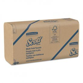 Scott® Folded Paper Towels, 9 1/5 x 9 2/5, Natural,