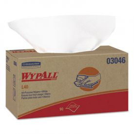 WypAll* L40 Wipers, 10 4/5 x 10, POP-UP Box, White