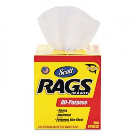Scott® Rags in a Box, 10 x 12, White