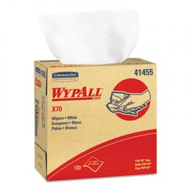 WypAll* X70 Wipers, POP-UP Box, 9 1/10 x 16 4/5, White