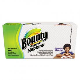 Bounty® Quilted Napkins, 1-Ply, 15 x 17, White