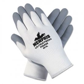Memphis™ Ultra Tech® Foam Nitrile Gloves, Medium, White/Gray