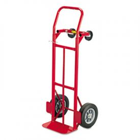 Safco® Two-Way Convertible Hand Truck, 500-600lb Capacity, 18w x 51h, Red