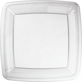 Clear Appetizer or Dessert Rigid Plastic Plates Square 7