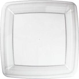 Clear Square Plastic Banquet Plates 10