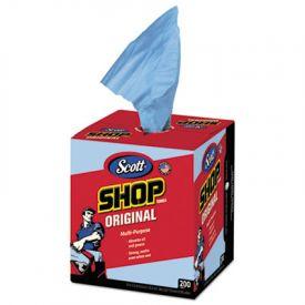 Scott® Shop Towels, Blue, Double Recrepe, 10 x 13, 200/Box