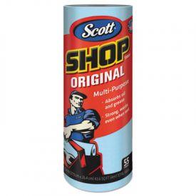 Scott® Shop Towels, Roll, 10 2/5 x 11, Blue