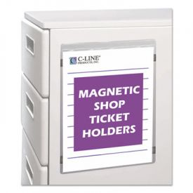 C-Line® Magnetic Shop Ticket Holder, Super Heavy, 9 x 12