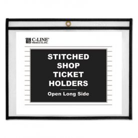 C-Line® Stitched Shop Ticket Holders, Both Sides Clear, 11 x 8 1/2