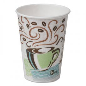 Dixie® PerfecTouch Paper Hot Cups, 8 oz., Coffee Haze Design
