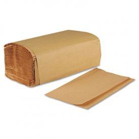 Boardwalk® Folded Paper Towels, Brown Kraft, 9 x 9 9/20