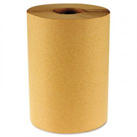 Boardwalk® Paper Towel Rolls, Nonperforated 1-Ply Kraft, 800'