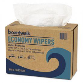 Boardwalk® Four-Ply Nylon Scrim Wipers, 9 3/4 x 16 3/4, White
