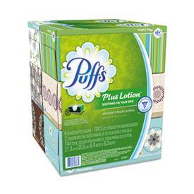 Puffs® Plus Lotion Facial Tissue, 2-Ply, White