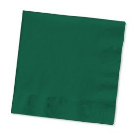 Hunter Green Beverage Napkins, 2-Ply, Bulk
