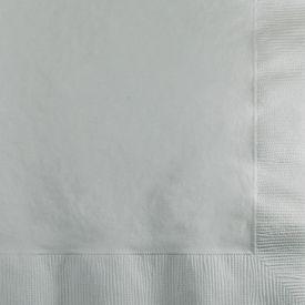 Shimmering Silver Beverage Napkins, 2-Ply, Bulk
