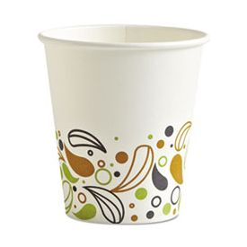 Boardwalk® Deerfield Printed Paper Hot Cups, 10 oz