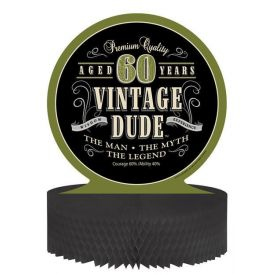 Vintage Dude Centerpiece, Honeycomb, 60th