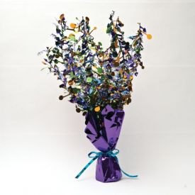 Bright And Bold Centerpiece, Foil Spray, Happy Birthday