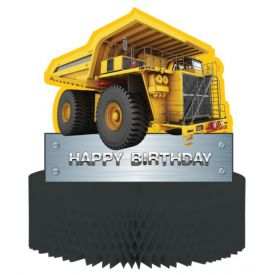 Construction Birthday Zone Centerpiece, Honeycomb, Cutout