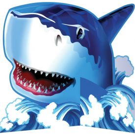 Shark Splash Centerpiece, Standup, Diecut