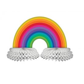 Rainbow Honeycomb Centerpiece Diecut