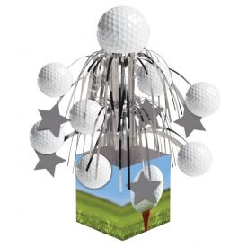 Sports Fanatic Centerpiece, Mini Cascade, w/ Base
