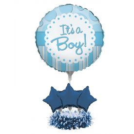 Air Filled Balloon Centerpiece Kit, It's a Boy