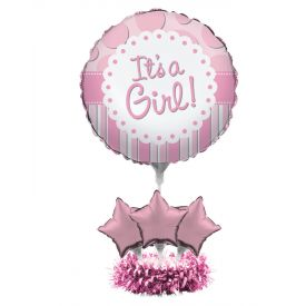 Air Filled Balloon Centerpiece Kit, It's a Girl